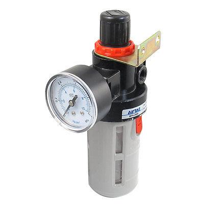 BFR Series BFR-2000 Gas Source Treatment Pneumatic Filter Regulator 1/4PT 1 4 bfr 2000 air source gas treatment pressure filter regulator model bfr2000 with pressure gauge