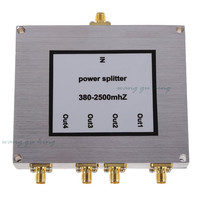 New 4 Way Power Splitter 800 2500MHz SMA RF Power Splitter Power Divider Booster Accessory Mobile