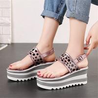 LAPOLAKA Luxury Leisure Polka Dot Ladies Wedges High Heels Platform Women Shoes Woman Casual Summer Sandals