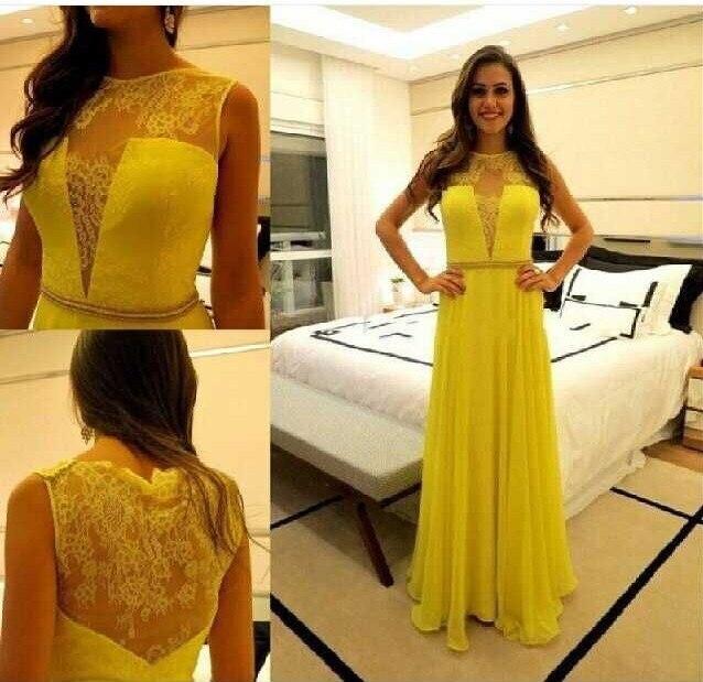 8e5460d3a6 Vestidos de noche amarillos 2016 - Vestidos formales