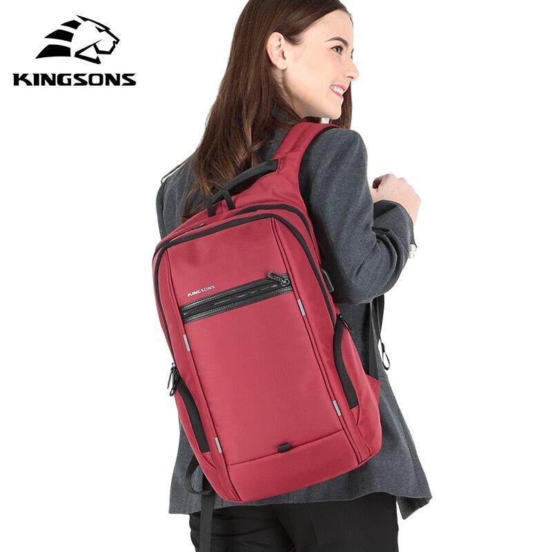 KINGSONS 2019 New 13 15 Inch Women Fashion Laptop Backpack Wear-resistant Splash-proof Business Leisure Travel Student BackpackKINGSONS 2019 New 13 15 Inch Women Fashion Laptop Backpack Wear-resistant Splash-proof Business Leisure Travel Student Backpack