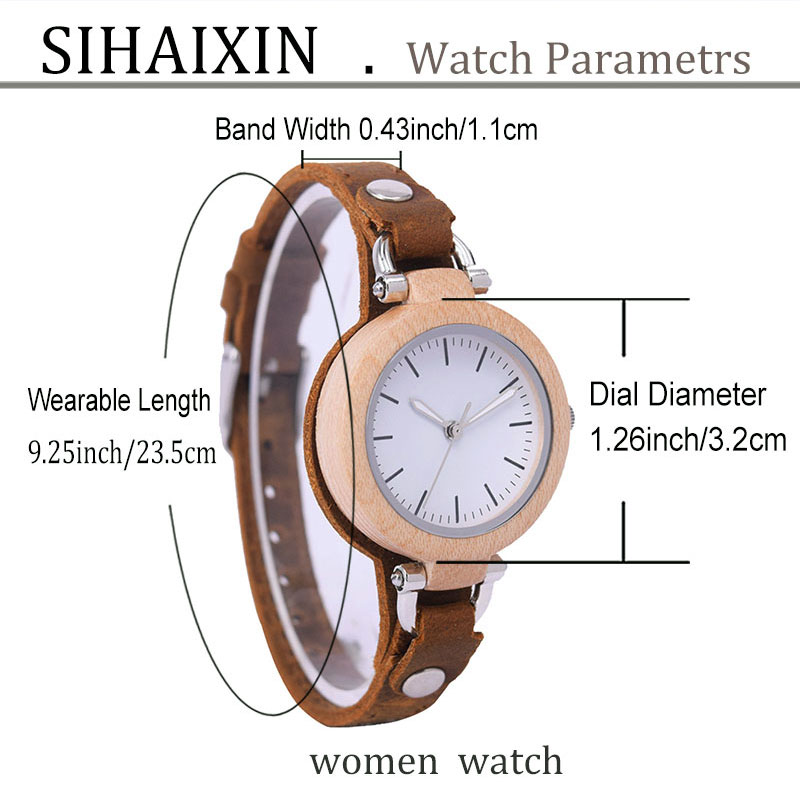 sihaixin-women-Unique Handmade leather-wood-watches-B88-11