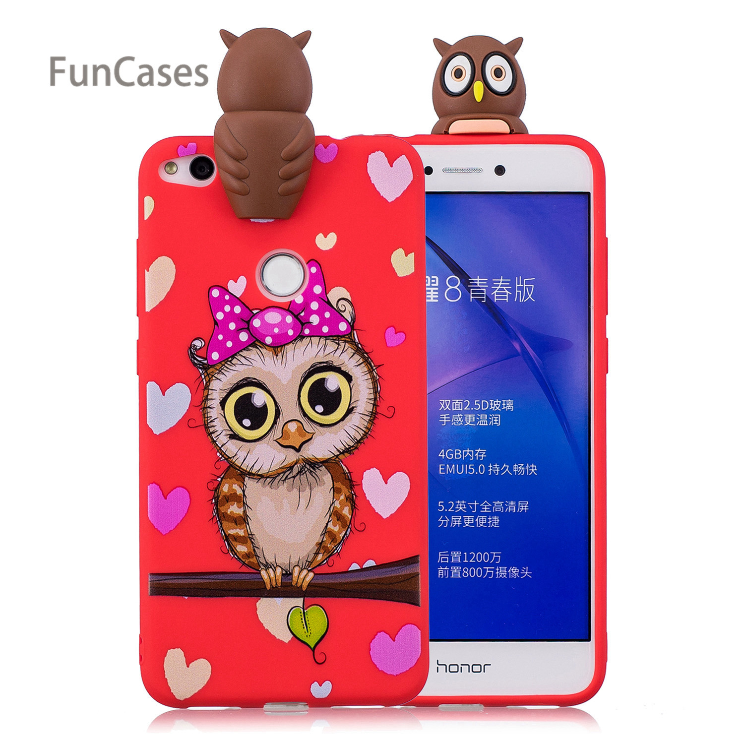 Handsome Owl <font><b>Phone</b></font> <font><b>Case</b></font> sFor Hoesjes Huawei P8 Lite 2017 Soft TPU Back <font><b>Phone</b></font> <font><b>Case</b></font> Huawei Ascend P9 Lite 2017 Honor 8 Lite