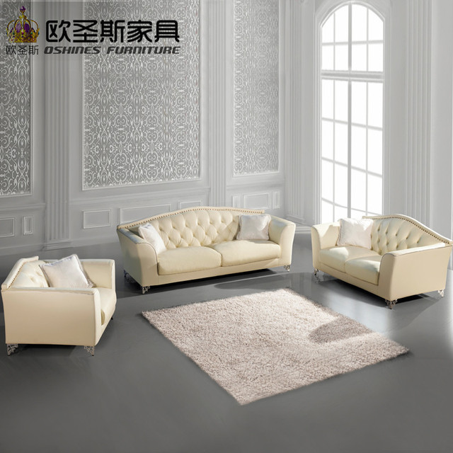 Buy From China Factory Direct Wholesale Valencia Wedding Italian Cheap  Cream Beige Leather Pictures Of Sofa
