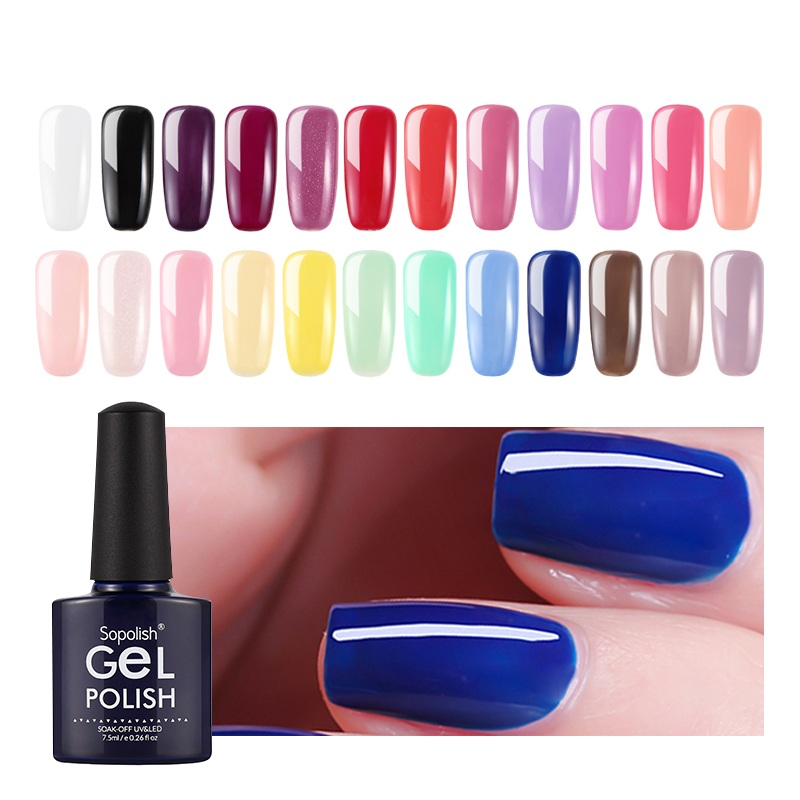 Sopolish Gel Polish Hybrid Nail Art Lak Primer Top Coat  Vernis Semi Permanent UV Colors Accessoires Acrylic Builder Gel Polish