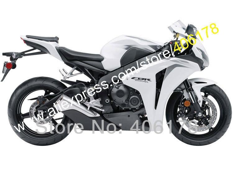 Hot Sales,For HONDA 08 09 10 11 CBR1000RR Customized 2008 2009 2010 2011 CBR 1000RR White black Fairing Kit (Injection molding)