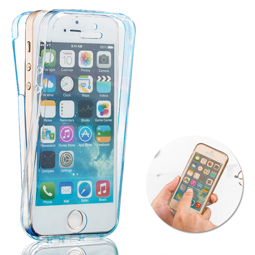iphone 5 protective case ultrathin 360 degree protective soft tpu cover 7609