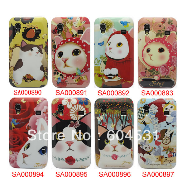 Hot sales 100 pcs/lot Lovely Cats style Hard Back Cover Case For Samsung Galaxy ACE S5830 Free shipping