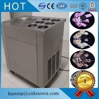 High quality 110V 220V flat pan freezing ice cream frying ice cream maker fried ice cream rolled making machine