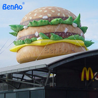 Z167 BENAO Free shipping 3m Attractive inflatable hamburger model,vivid replica giant hamburger model inflatable for showing