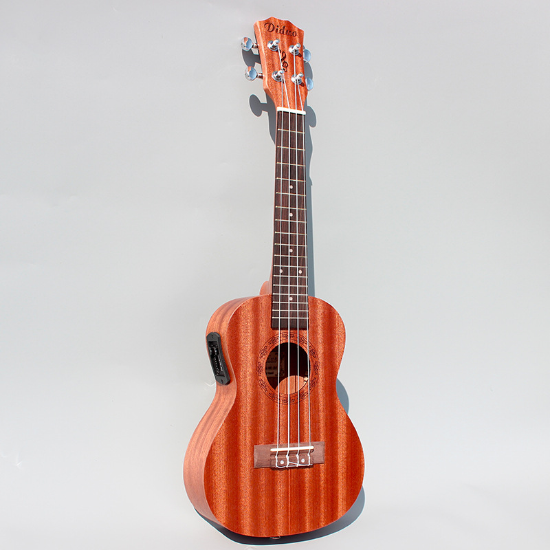 23''Mahogany EQ Electric Guitar Ukulele 4 AQ Strings Mini Acoustic Guitar Rosewood Fingerplate Guitarra Electrica tenor concert acoustic electric ukulele 23 26 inch travel guitar 4 strings guitarra wood mahogany plug in music instrument