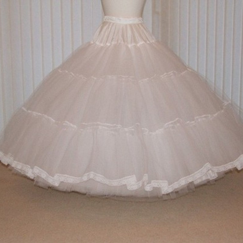 France Style Petticoat Elastic Waistline Floor Length Long