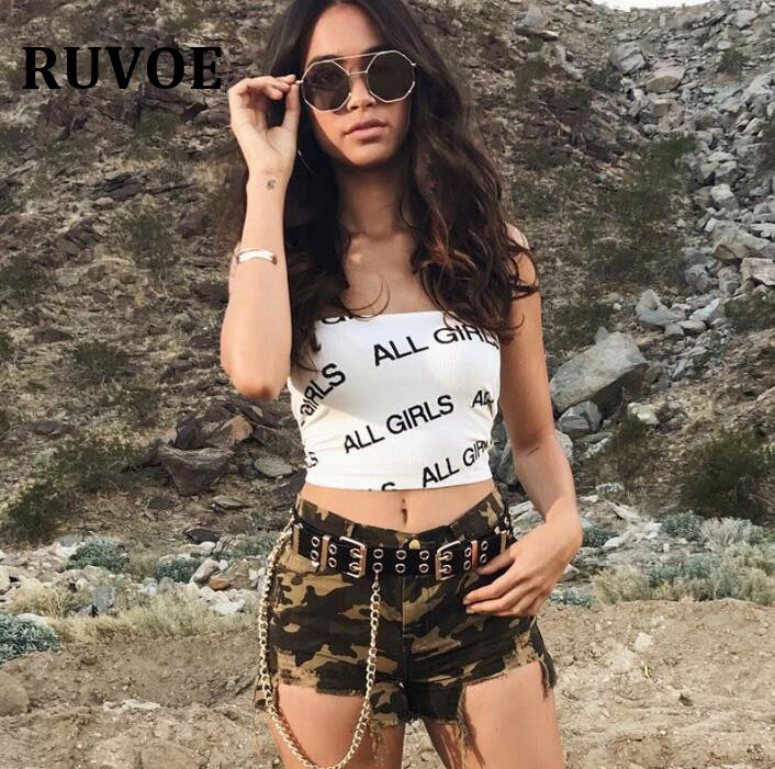 40b8e3aecc3 2018 Cropped Ladies Strapless Tops Printed Letter Ladies tank top black  yellow Sexy Lntimates Solid Black Tight Tube Top YFL-42