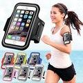 "Deporte correr brazalete bolsa de la cubierta de cuero para iphone 6 s plus teléfono arm band bolsa caso para huawei p8 p9 p9 lite honor 7 5x 5c g8 5.5"""
