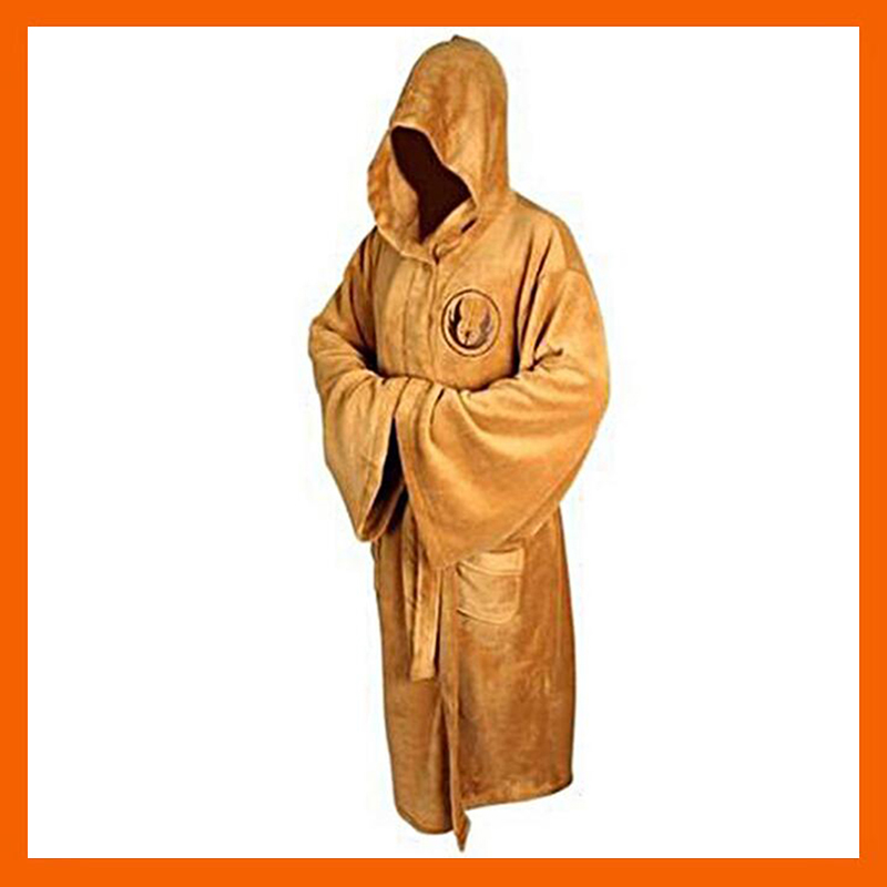 STAR WARS COSPLAY COSTUME JEDI KNIGHT ROBE DELUXE BATH ROBE DARH VADER BROWN ROBE DRESS GOWN SLEEPING WEAR HALLOWEEN PAJAMAS