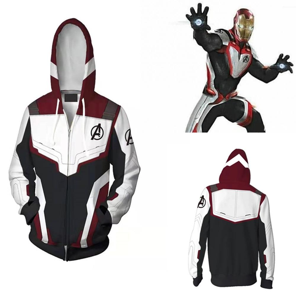 Avengers Endgame Quantum Realm Sweatshirt Jacket Advanced Tech Hoodie Cosplay Costumes 2019 new superhero Iron Man Hoodies suit call of duty advanced warfare army