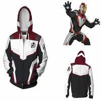 Avengers Endgame Quantum royaume sweat-shirt veste Advanced Tech à capuche Cosplay Costumes 2019 nouveau super-héros Iron Man Hoodies costume