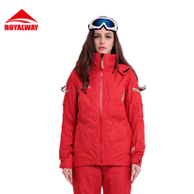ROYALWAY Women Skiing Jackets Winter Jacket Adjustable Removable Hat Breathable High Quality Recco GPS Securit Jacket#RFSL4504G