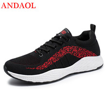 ANDAOL Men's Casual Shoes Top Quality Mesh Breathable Striped Travel Trainers New Luxury Non-Slip Zapatos Hombre Campus Sneakers недорого