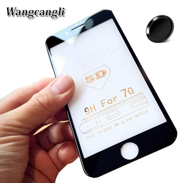 666bd62bf12 Wangcangli 5d vidrio templado para iPhone 6 vidrio protector HD para iPhone  6s 7 más 4d