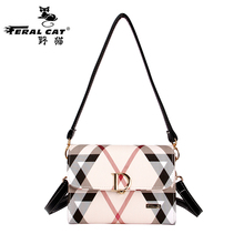 2017 famous brand summer classic checkered handbags high quality women  messenger bags female handbag shoulder bag free shipping