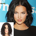 Short 4x4 Silk Top Full Lace Human Hair Wigs Natural Wave Brazilian Silk Base Wavy Lace Front Wigs With Baby Hair Bleached Knots