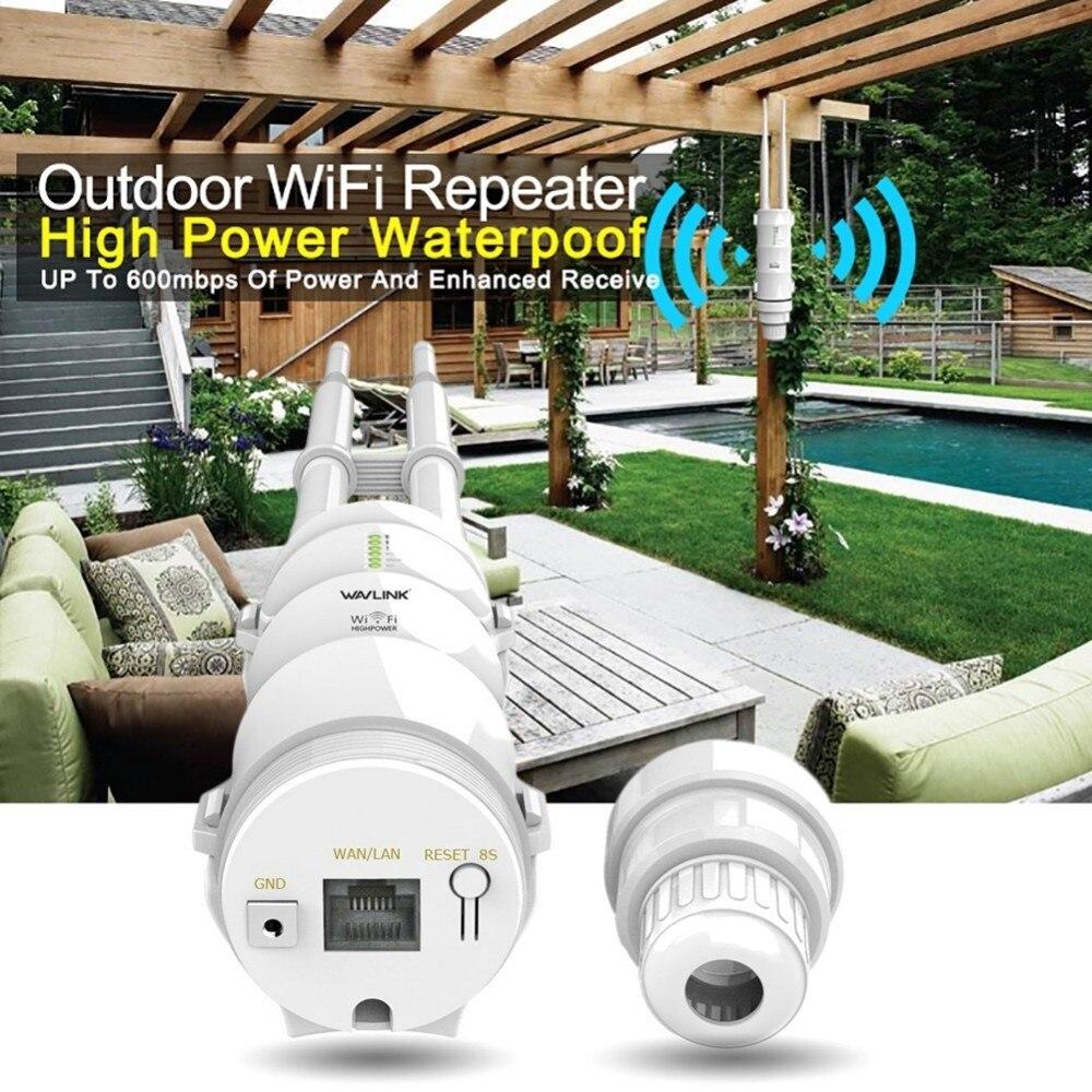 Wavlink extérieur résistant aux intempéries CPE/Wifi Extender/Point d'accès/routeur/WISP 2.4 GHz 150 Mbps 5 GHz 433 Mbps double antenne WIFI routeur - 5