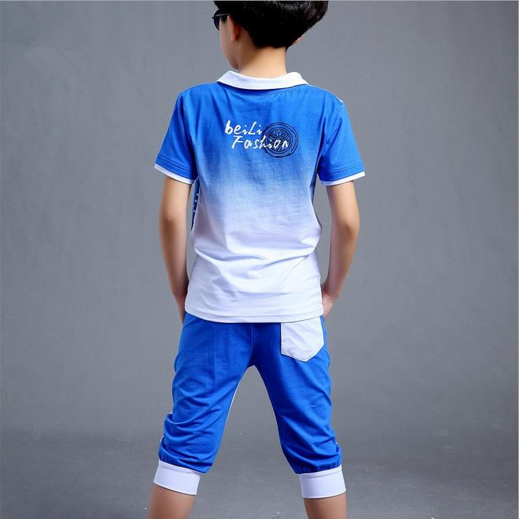 Boys Fashion təsadüfi idman kostyumu geyim dəsti Motosiklet çap - Uşaq geyimləri - Fotoqrafiya 6
