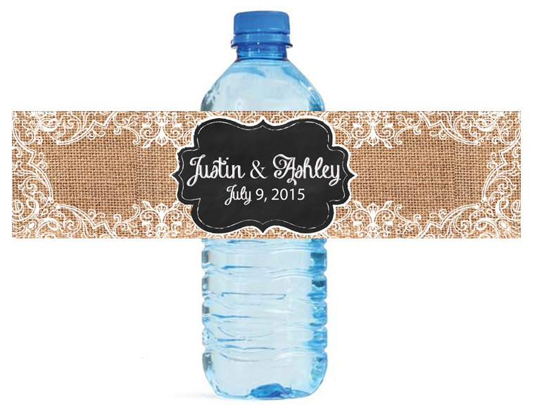 48x Personalized Water Bottle Labels font b Wedding b font Decorations font b Favors b font