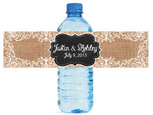 Personalised Burlap Couple Party Favors Seal Gifts Tag Stickers Personalized Water Bottle Wine Labels Wedding Decorations