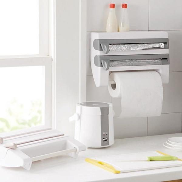 Image 3 - Muti Function Kitchen Paper Holder Hanger Tissue Roll Towel Rack Bathroom Toilet Sink Door Hanging Organizer Storage Hook Holder-in Paper Holders from Home Improvement