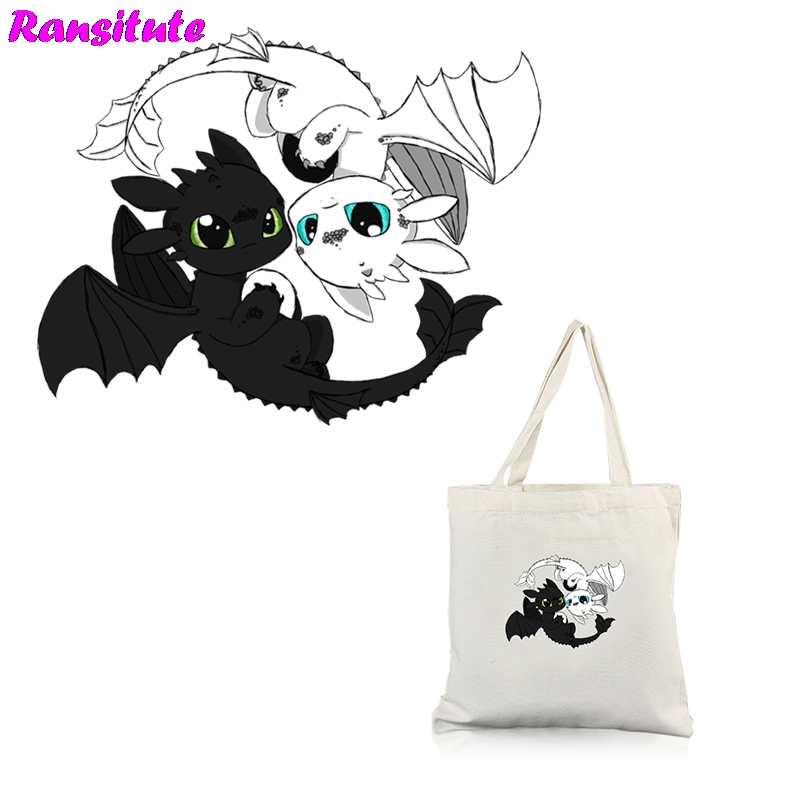 R268 How To Train Your Dragon Personality Patch DIY Backpack Printing Thermal Transfer Washable Heat Transfer