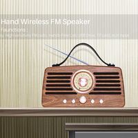 Retro radio wireless bluetooth speaker HIFI sound card USB portable subwoofer radio