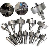 13Pcs Metal Alloy Tip Drill Bit TCT Heavy Duty Plastic Aluminum Metal Wood Saw Set Drilling Hole Cut Tool 16 53mm