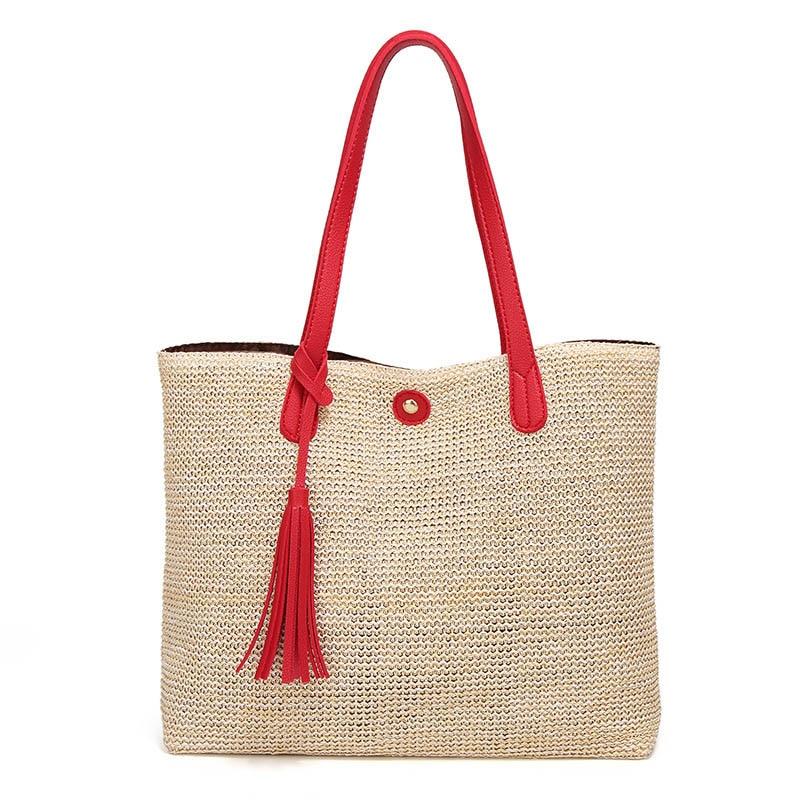 29b6a21efe Comprar NOVO 2018 Moda saco Tecido saco de Praia bolsa de Férias de lazer  Europeu e Americano big bags Designer estilo mulheres bolsas Baratas Online  Preço