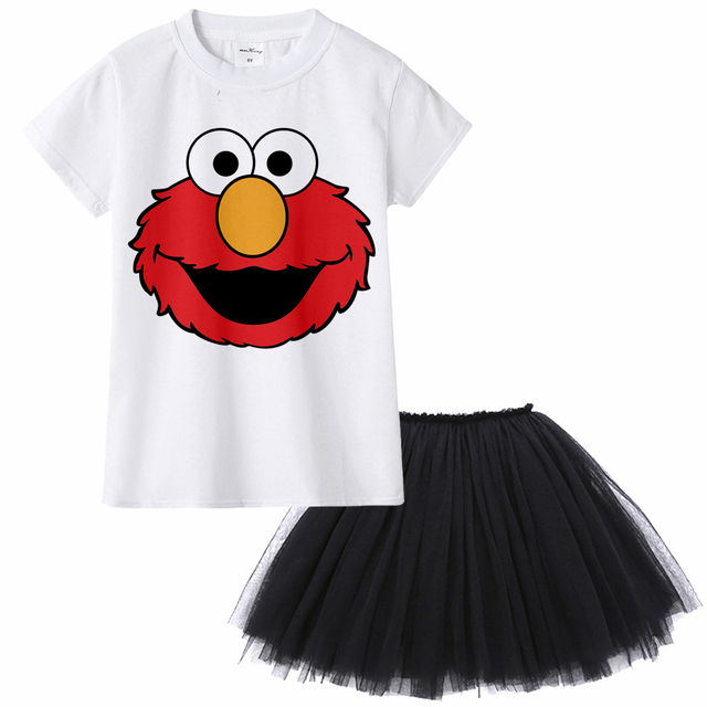 Sesame Street Elmo Cookie Monster Children Clothing Sets Summer