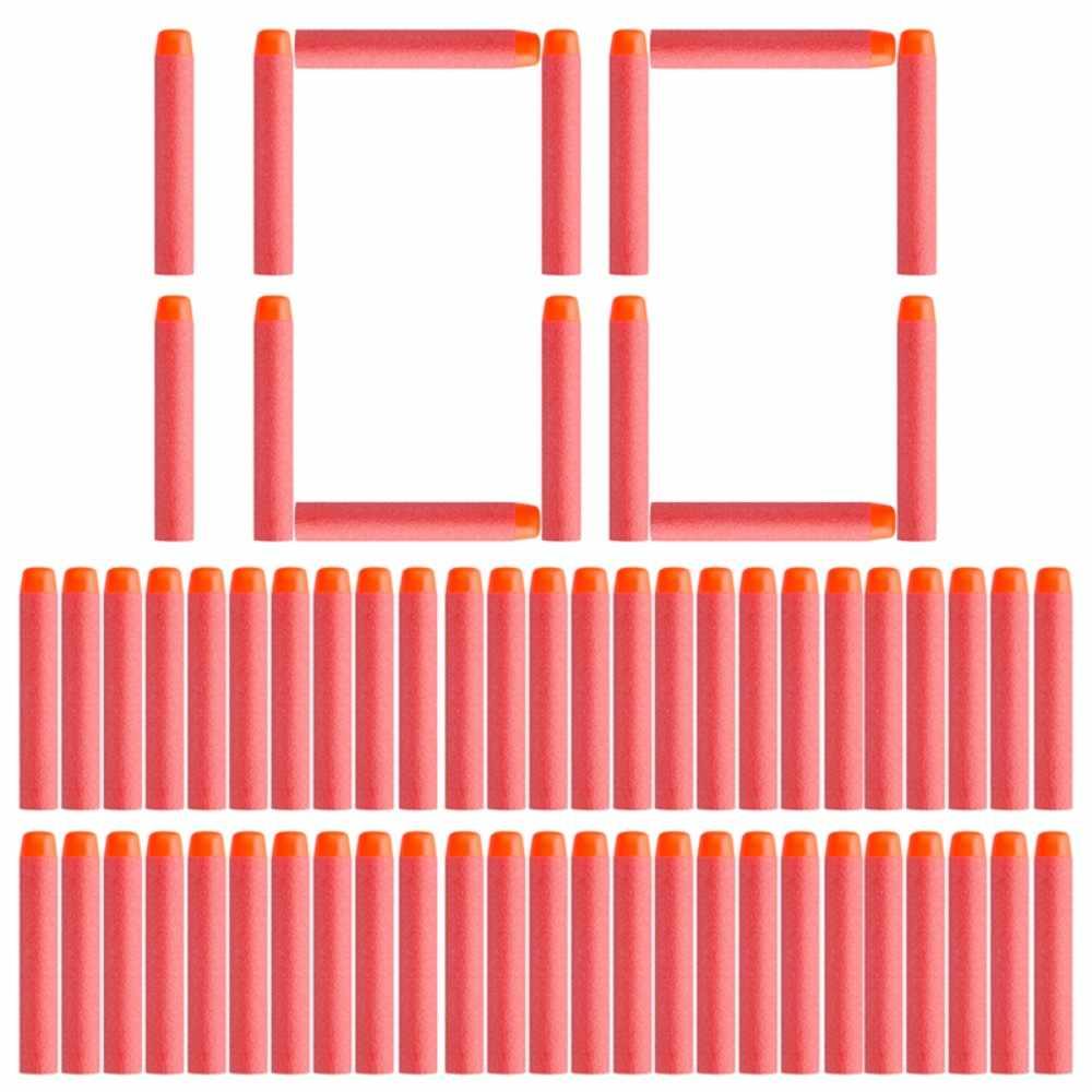 Zachte Nerfe Kogels 100/50 pcs Hollow Gat Hoofd 7.2 cm Refill Darts Speelgoed Pistool Kogels voor Nerf Serie blasters Xmas Kid Kinderen Gift