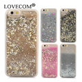 For iPhone 7 7 Plus 6 6S Plus 4 4S 5C 5S SE Phone Case Dynamic Liquid Glitter Star Quicksand Colorful Sequin PC Hard  Back cover