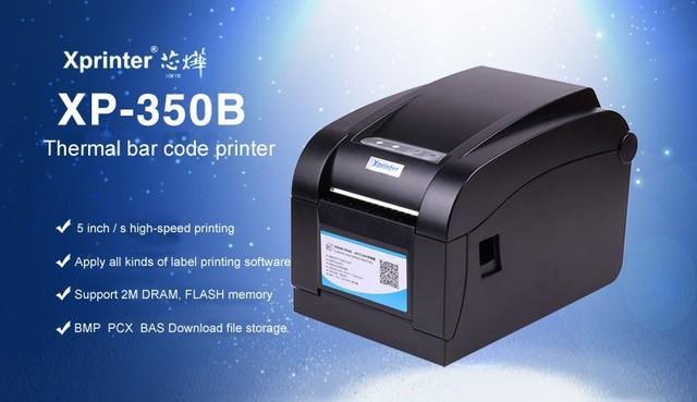 80 мм pos принтера 100% Новый высококачественный оригинальный Высокая Скорость Печати Штрих-Код Этикетки Стикер Принтера 350B
