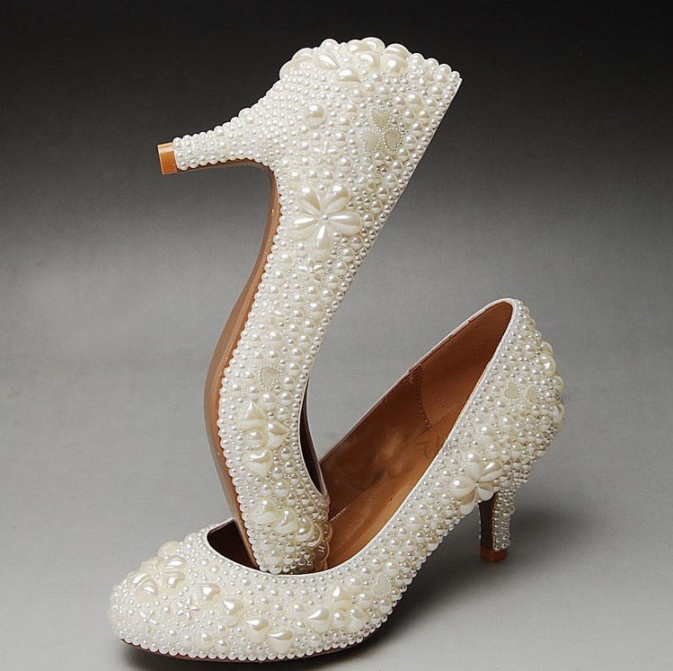 2018 Gorgeous And Fashion lady wedding shoes Wedding Bridesmaid ...