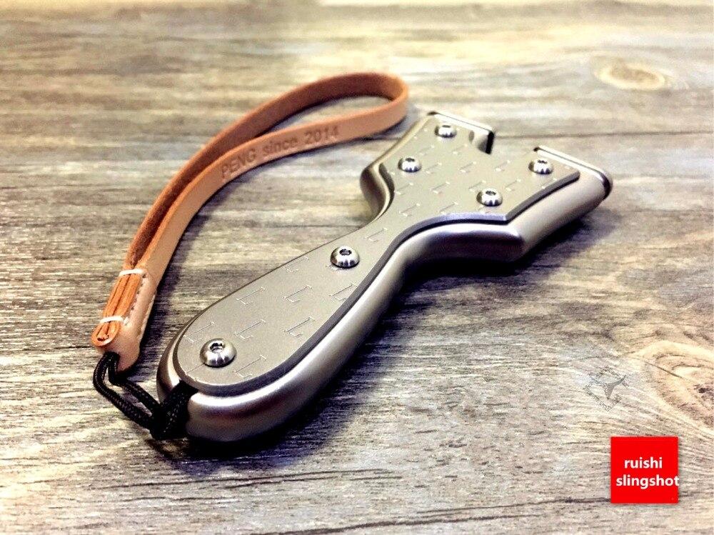 Top titanium alloy Flat natural rubber belt. Sporting a slingshot Limited-edition projectors All titanium стоимость