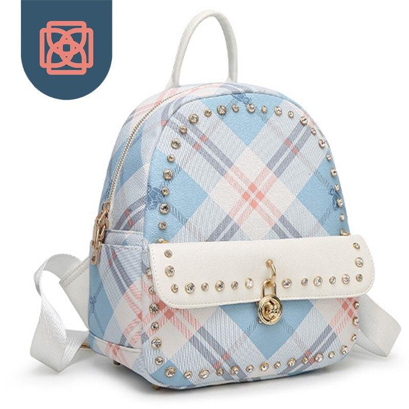 bolsa de viagem estilo preppy School Bag : Rugzak