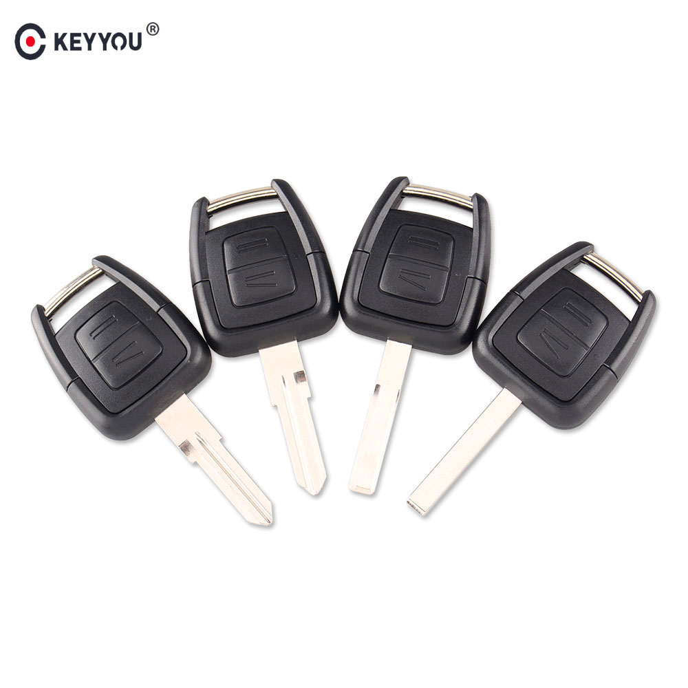 KEYYOU 2 Button Remote Key Case Fob Car Key Shell + Blank Blade Uncut For Vauxhall OPEL Vectra Astra Zafira Replacement Case