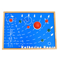 2016 Nueva Llegada Montessori Nueve Planetas Del Sistema Solar Juguetes Rompecabezas Del Bebé de Madera Educativo de Aprendizaje Temprano Regalo Del Niño