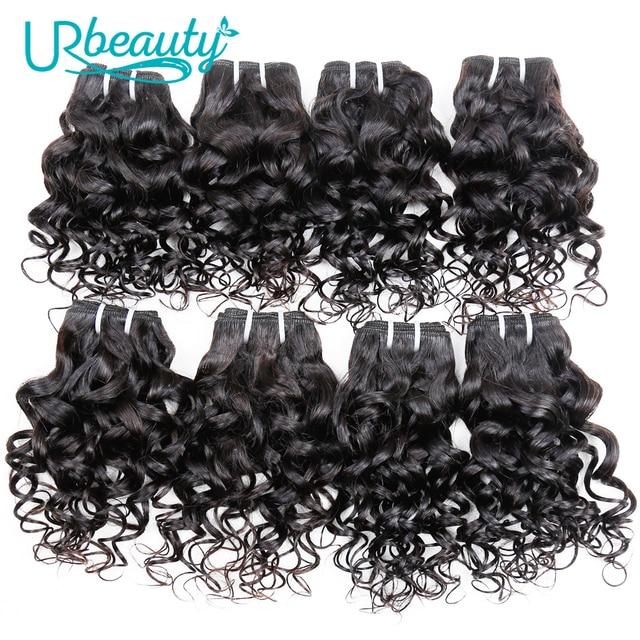 25 גרם\יחידה מים גל חבילות ברזילאי שיער weave חבילות 100% שיער טבעי הארכת טבעי צבע UR יופי רמי שיער