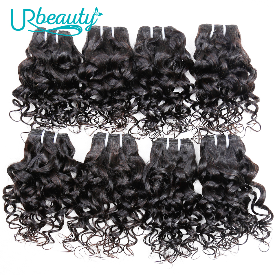 25g/pc Water Wave Bundles Brazilian Hair Weave Bundles 100% Human Hair Extension Natural Color UR Beauty Remy Hair