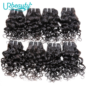 Image 1 - 25g/pc water wave bundles brazilian hair weave bundles 100% human hair extension natural color UR Beauty remy hair