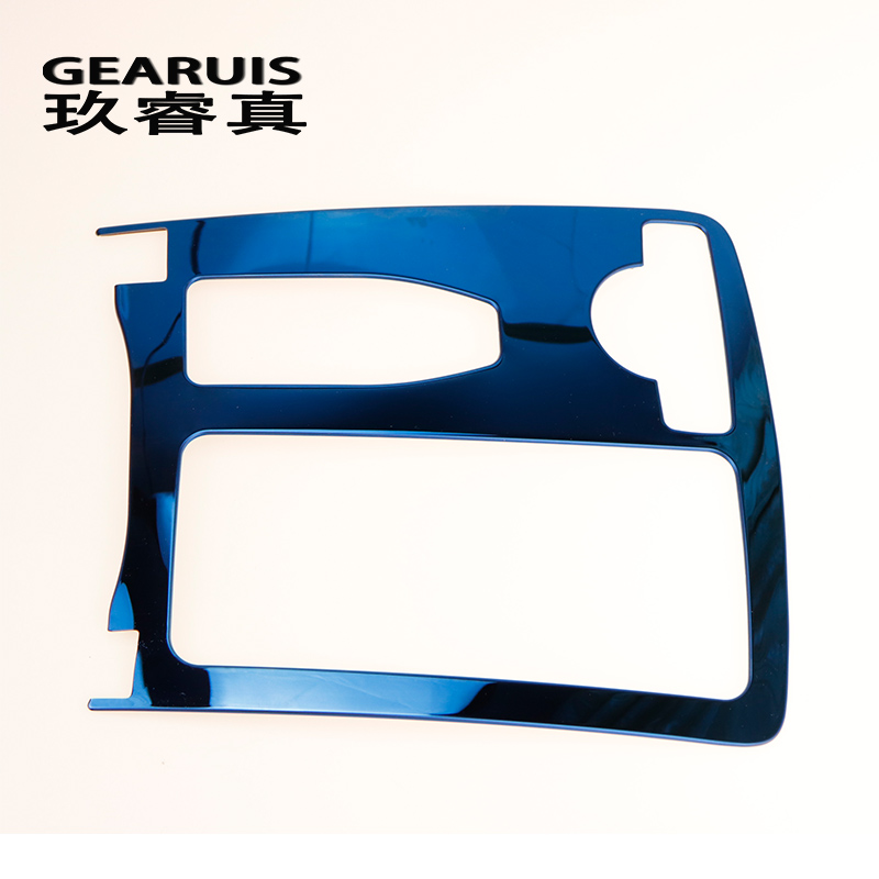 for Mercedes Benz C class W204 Car Blue Inner Center Console Gear Shift Box Sequin Water Cup Holder Cover Trim strip sticker