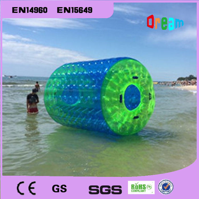 Free Shipping 2.6*2m Large Inflatable Hamster Ball Rotary Drum Ball Wheel Water Roller For Summer Running Roller free shipping inflatable water wheel pool inflatable water roller water roller ball inflatable water balls