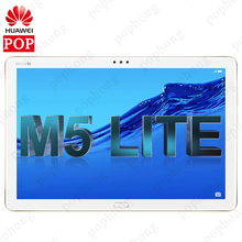 هاتف HUAWEI MediaPad M5 lite الأصلي بذاكرة قراءة فقط عالمية مقاس 10.1 بوصات ونظام تشغيل أندرويد 8.0 وذاكرة وصول عشوائي 4 جيجابايت وذاكرة قراءة فقط سعة 64 جيجابايت وهاتف Huawei M5 Lite جهاز لوحي مزود بخاصية إلغاء التأمين ببصمة الإصبع